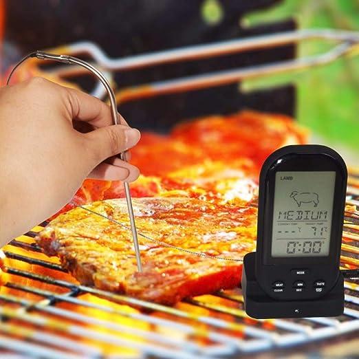 HuXwei Termómetro Digital inalámbrico para Cocina Horno Comida ...