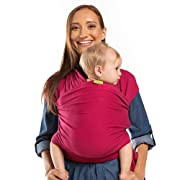 Boba Baby Wrap Carrier, Sangria - The Original Child and Newborn Sling, Perfect for Infants and Babies Up to 35 lbs (0 - 36 months)