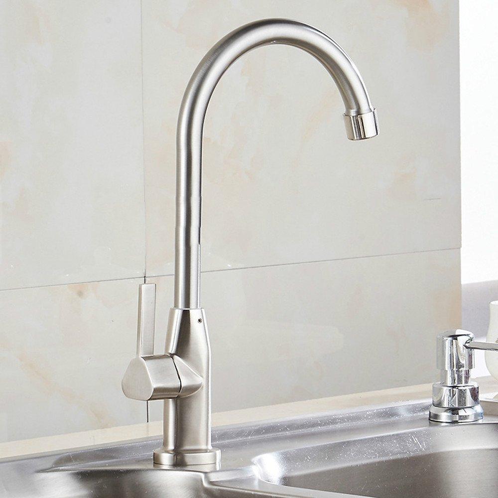 Lalaky Küchenarmatur Küche Wasserhahn Spültischarmatur Spülbecken Mischbatterie Spüle Küchen Einzelne Kaltdrahtzeichnung