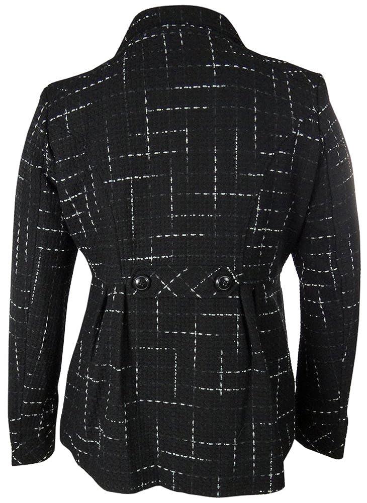 Maralyn /& Me Womens Woven Wool Blend Peacoat