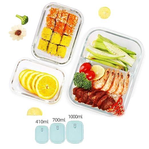 Partición Bento Lunch Box Set de 3 Piezas Separador de envases de ...