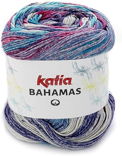 Bahamas Katia FB. 66, Hilo de algodón con Degradado, Lana de Verano de algodón para Punto y Ganchillo.: Amazon.es: Juguetes y juegos