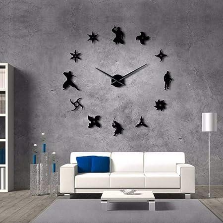 jasonding Shinobi Japon Ninja Reloj de Pared Gigante de ...