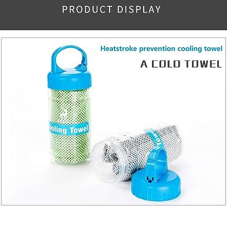 Toallas de refrigeración, toallas de hielo, toallas de microfibra, para refrigeración instantánea, toallas frías, aptas para yoga, playa ...