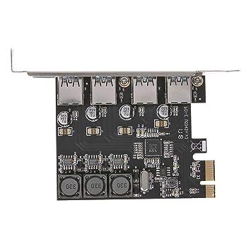 Prosperveil-SSU3V04S + 4 Puertos USB 3.0 Tarjeta de Expansión Pcie ...