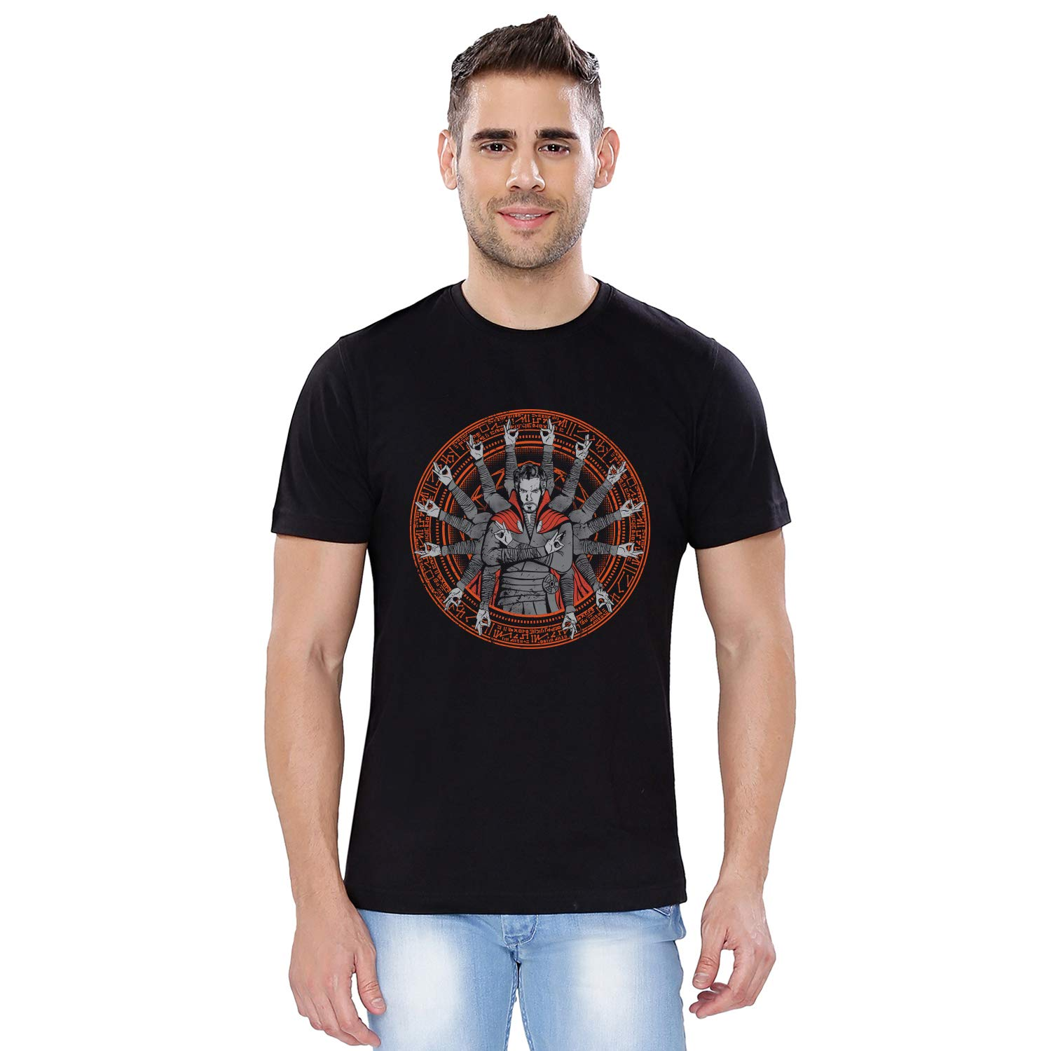 e17d0af6fa97 Doctor Strange  The Sorcerer Supreme Cotton Printed T-Shirt for Men Women  and Girls  Amazon.in  Clothing   Accessories