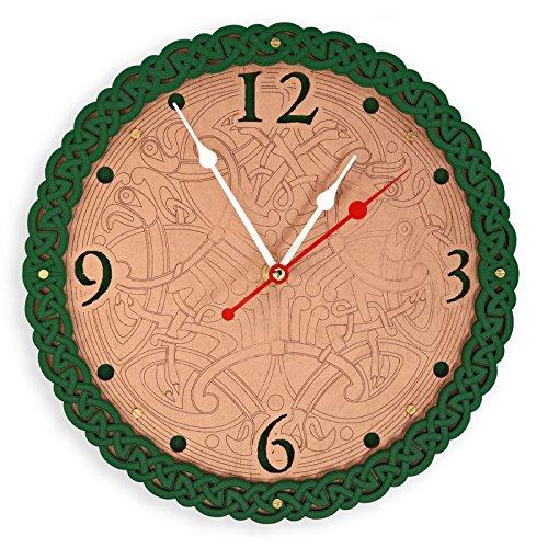 Celtic wooden wall clock I