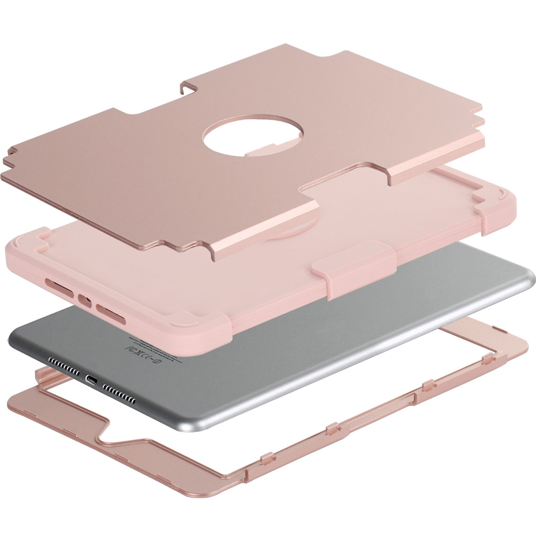 Rouge+Noir/ 7,9 Pouces BENTOBEN Coque iPad Mini 5 Etui Housse de Protection Antichoc R/ésistant Double Couche en Silicone Souple et PC Durable avec Support pour iPad Mini 5 iPad Mini 4 iPad Mini 4