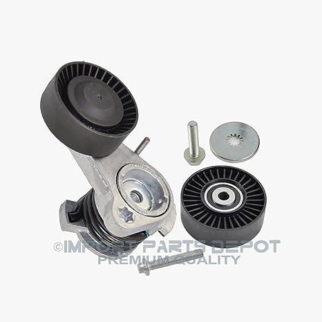 Cinturón tensor w/Polea + tornillo + correa de distribución polea para BMW 128i 530i 530 ...