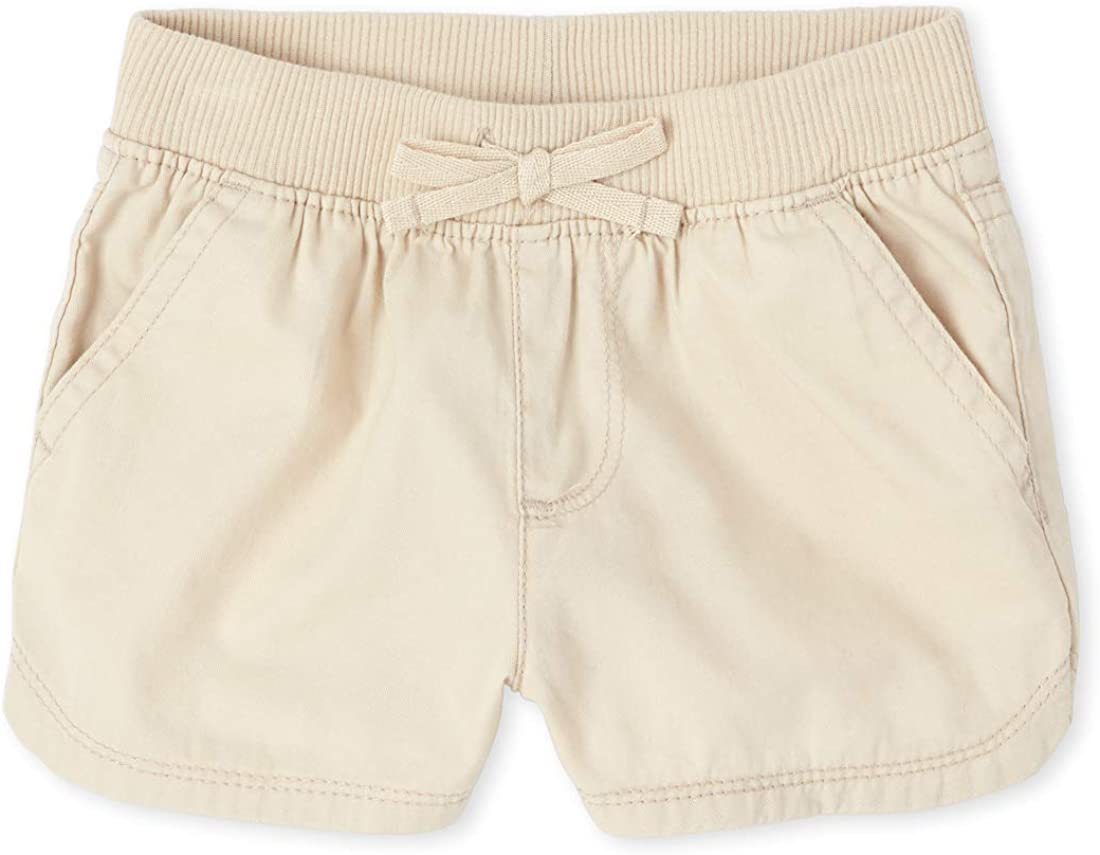 The Childrens Place Baby Girls Solid Drawstring Shorts