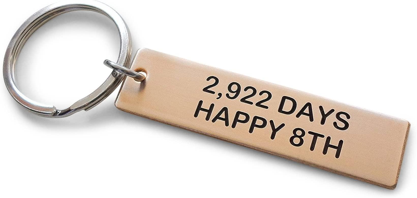 JewelryEveryday Llavero de Bronce con Grabado 2,922 días ...