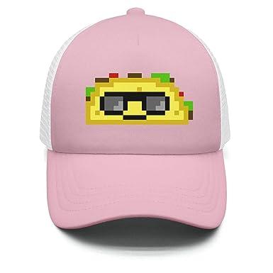 Amazon.com  Wlpjsjkd Boy s Girl s Pixel Taco Baseball hat New Visor ... 4536f8ce3bb