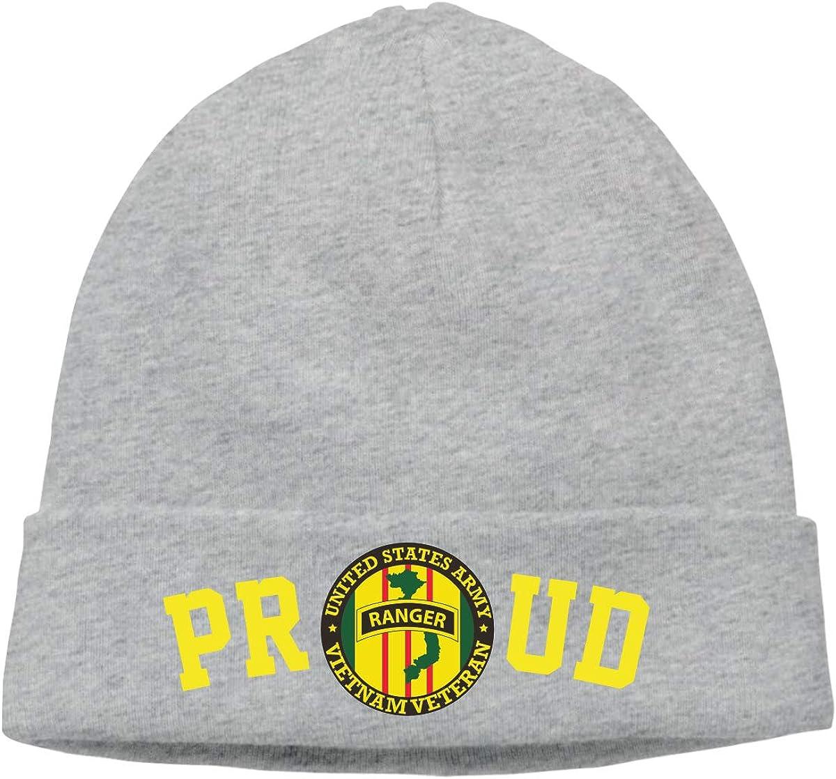 FORDSAN CP Proud Ranger Vietnam Veteran Mens Beanie Cap Skull Cap Winter Warm Knitting Hats.