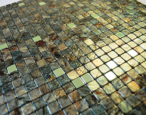 FLEXIPIXTILE, SAMPLE, Aluminum Mosaic Tile, Peel & Stick