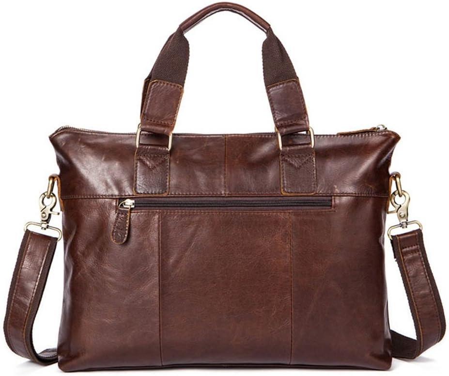 """Kindlov-BG Men Laptop Briefcase Bag Mens Business Leather Briefcase Messenger Shoulder Bag Crossbody Satchel Handbag Brown for 15/""""Laptop for School Travel"""