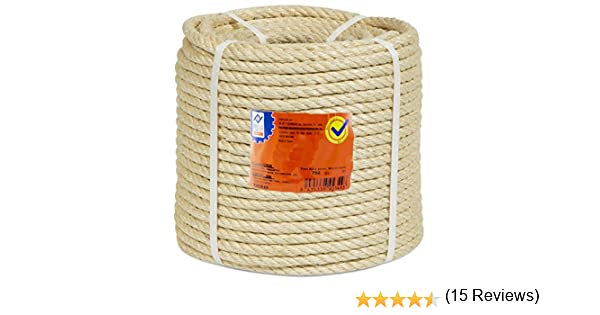 PROFER HOME - Cuerda Sisal 4 C. Bobina 6 Mm Profer Home 100 M: Amazon.es: Bricolaje y herramientas