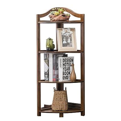 Awesome Emma Home SJ Bookshelf Bamboo Wooden Fan Shaped Corner Shelf Books And  Magazines Storage Rack