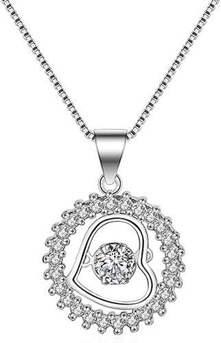 925 Sterling Silber versilbert Anhänger kristal strass halskette collier mode