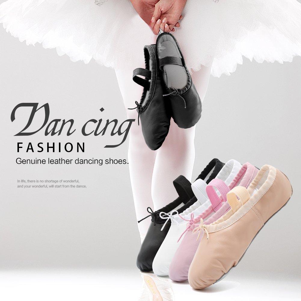CIOR Ballet Slippers Leather Dance Shoes Yoga Gymnastics Flats Toddler//Little//Big Kid//Women