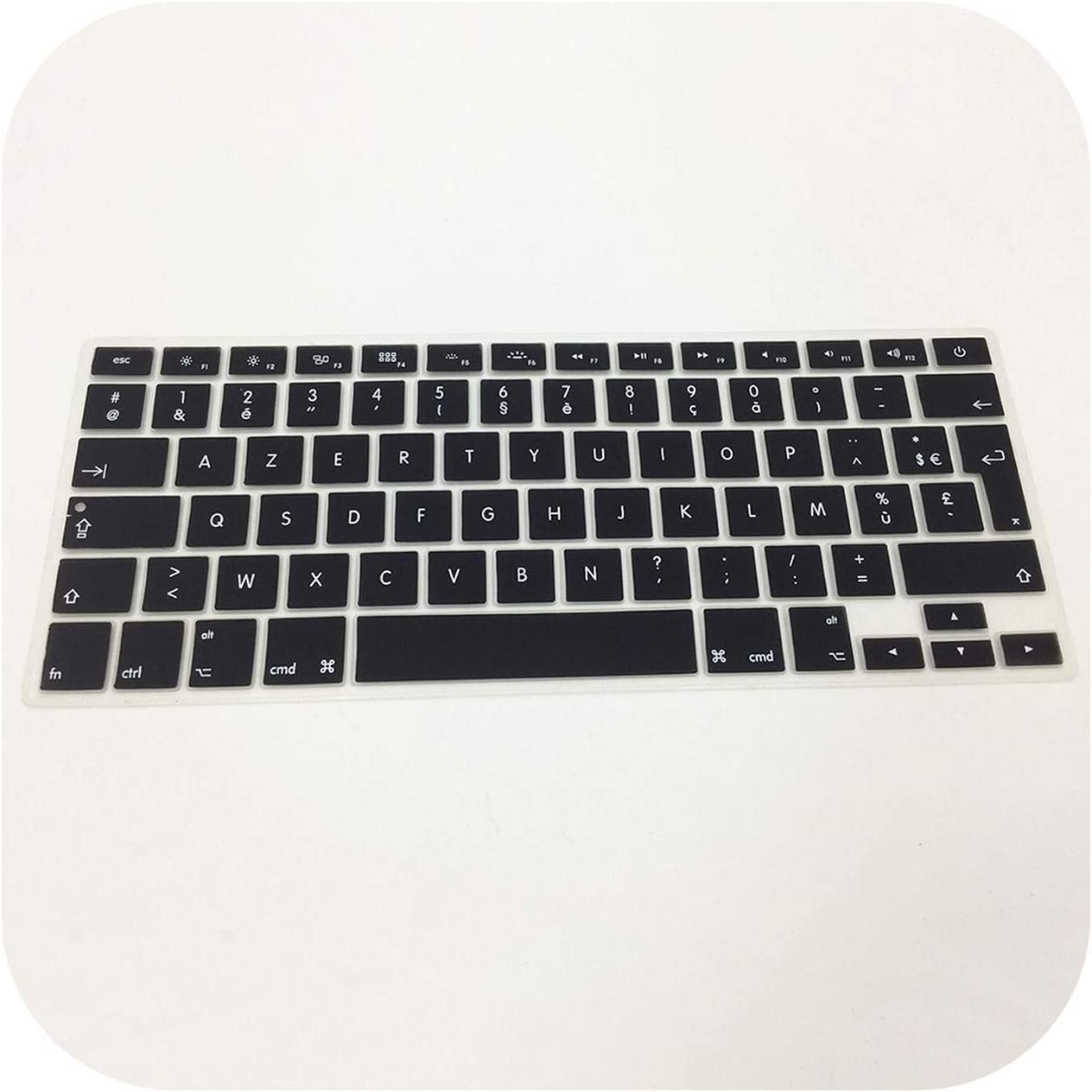 EU//UK//US Silicon Keyboard Cover Transparent Clear Protector Multi Language for MacBook Air Pro Retina 13 15 17inch-French UK EU Vision
