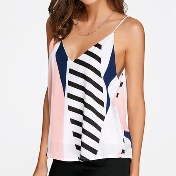 0112ca11336 Amazon.com  FAPIZI Clearance Women Sleeveless V Neck T-Shirt Ladies Tube  Crop Vest Casual Camisole Blouse Tank Tops  Clothing
