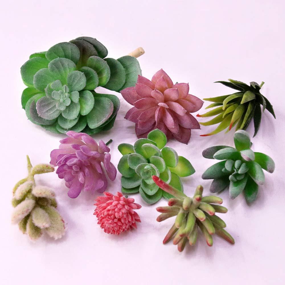 1 Set Artificial Succulent Plants Faux Assorted Unpotted Home Garden Fake Plants
