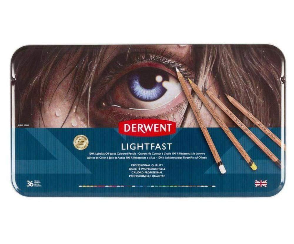 Crayons Artistic Lightfast Set (36ks), Derwent, Oil Lightproof, Art Supplies