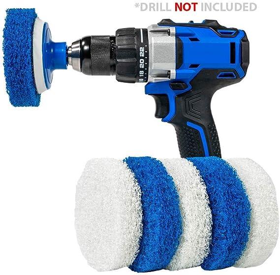 60mm White Soft Drill Powered Brush Head For Cleaning Car Carpet Bath Fabri.z