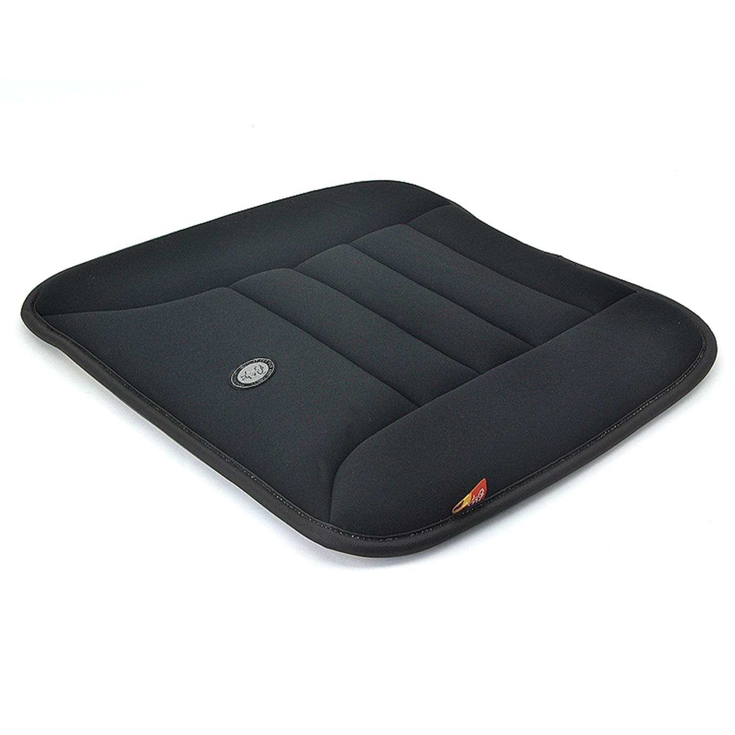 Car Memory Foam Seat Cushion - Easy Install Universal Seat Pad, Anti Slip Auto Office Chair Comfort Cover, Pressure Relief Seat Protector - Black
