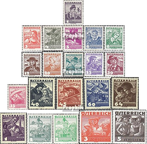 - Austria 567-587 (Complete.Issue.) 1934 Costumes (Stamps for Collectors) Uniforms/Costumes
