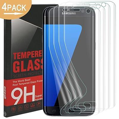 Galaxy S7 Edge Protector de Pantalla, Rusee Ultra HD Protectora, [Cobertura Completa] [Anti-Arañazos ] [Libre de Burbujas ] [Anti-Huellas Dactilares] cubierta de película protectora para Samsung Galaxy S7 Edge