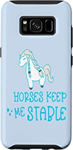 Galaxy S8 Cute Farm Graphic Design Decor with Horse Case