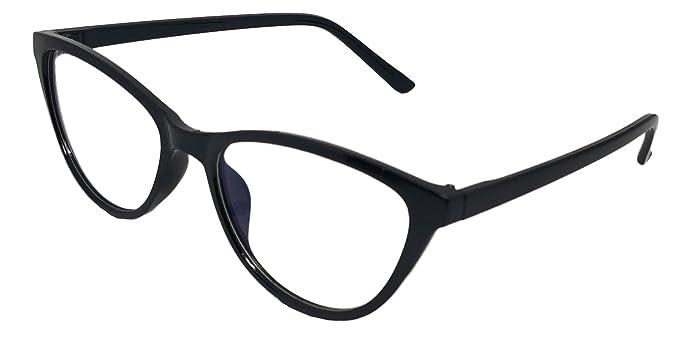 57e1392aaab Justkartit Cat Eye Black Color Women s Full Rim Spectacle Frame (Medium  Size Cat Eye Glasses