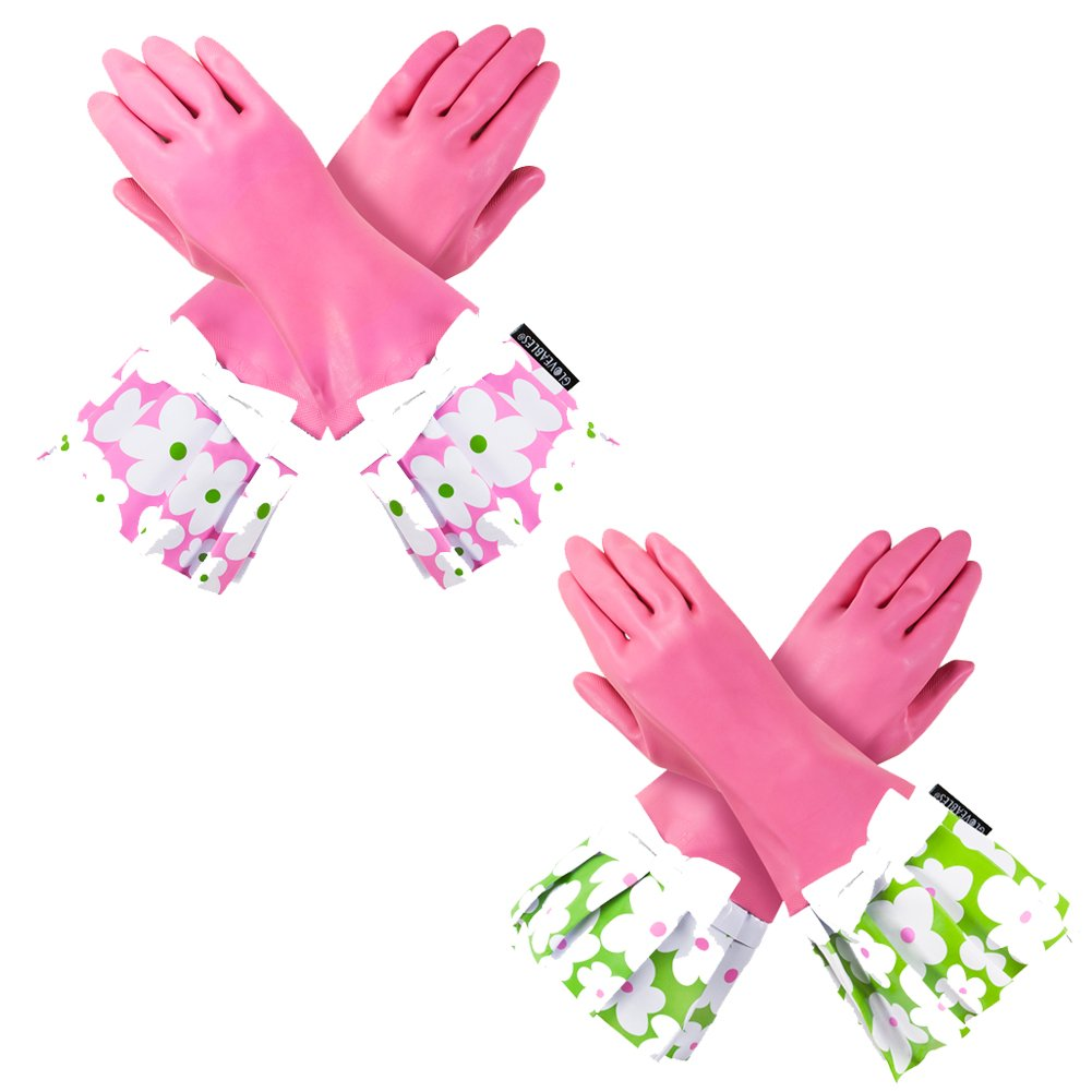 PINK GLOVEABLES, GREEN FLOWER TRIM, WHITE BOW & PINK GLOVEABLES, PINK FLOWER TRIM, WHITE BOW