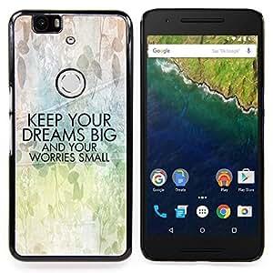For Huawei Nexus 6P - motivation art text positive /Modelo de la piel protectora de la cubierta del caso/ - Super Marley Shop -
