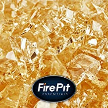Citron - Fire Glass for Indoor and Outdoor Fire Pits or Fireplaces | 10 Pounds | 1/4 Inch