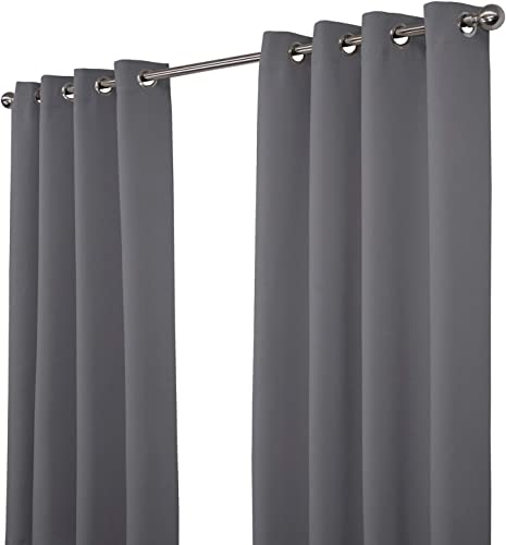 NIM Textile Thermal Insulated Blackout Curtains Room Darkening Window Panel Grommet Top Drapes