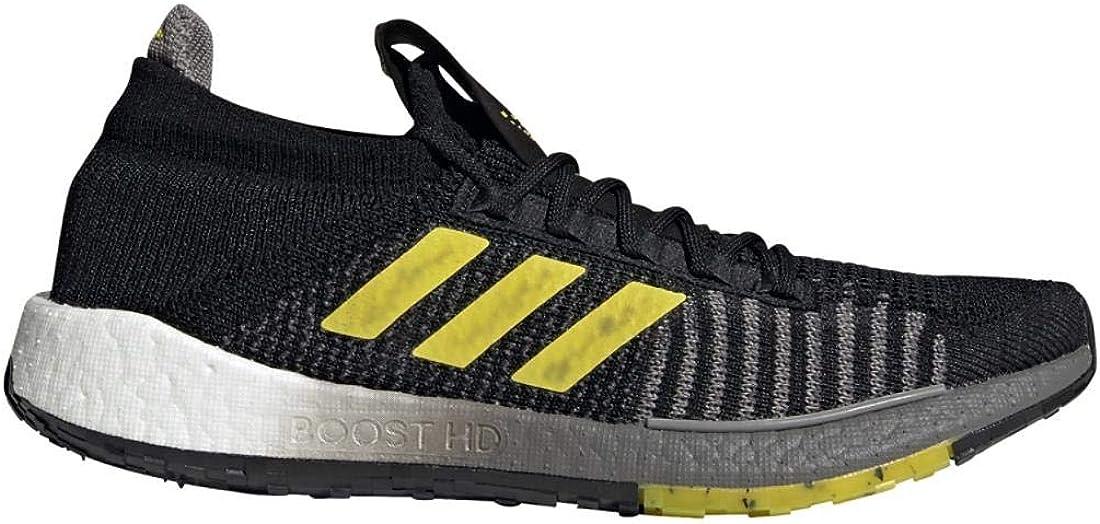 10 adidas Mens Pulseboost HD Running Shoe Black//Shock Yellow//Dove Grey