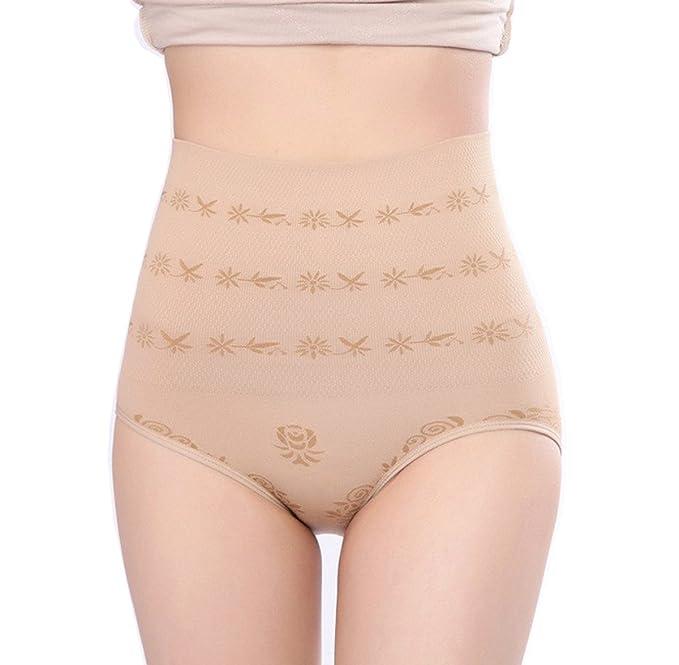 5c59e178f5 Quttos Women s Cotton Tummy Tucker Waist Slimmer Shapewear (Beige ...
