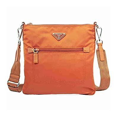 75cc36a28695 ... france prada nylon and leather crossbody bag orange 44f8c 83a7e