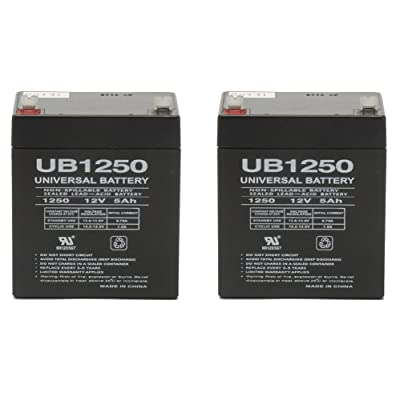 12V 5Ah Replacement Battery for Razor E100 Glow - 2 Pack