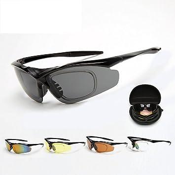 KANGLE Gafas de Equitación 5 Lentes Intercambiables para Movimiento polarizadas Gafas de Sol