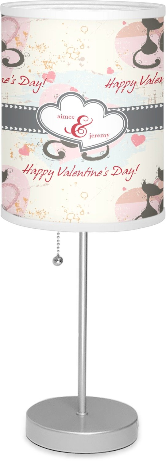 RNK Shops Cats in Love 7'' Drum Lamp with Shade Linen (Personalized)