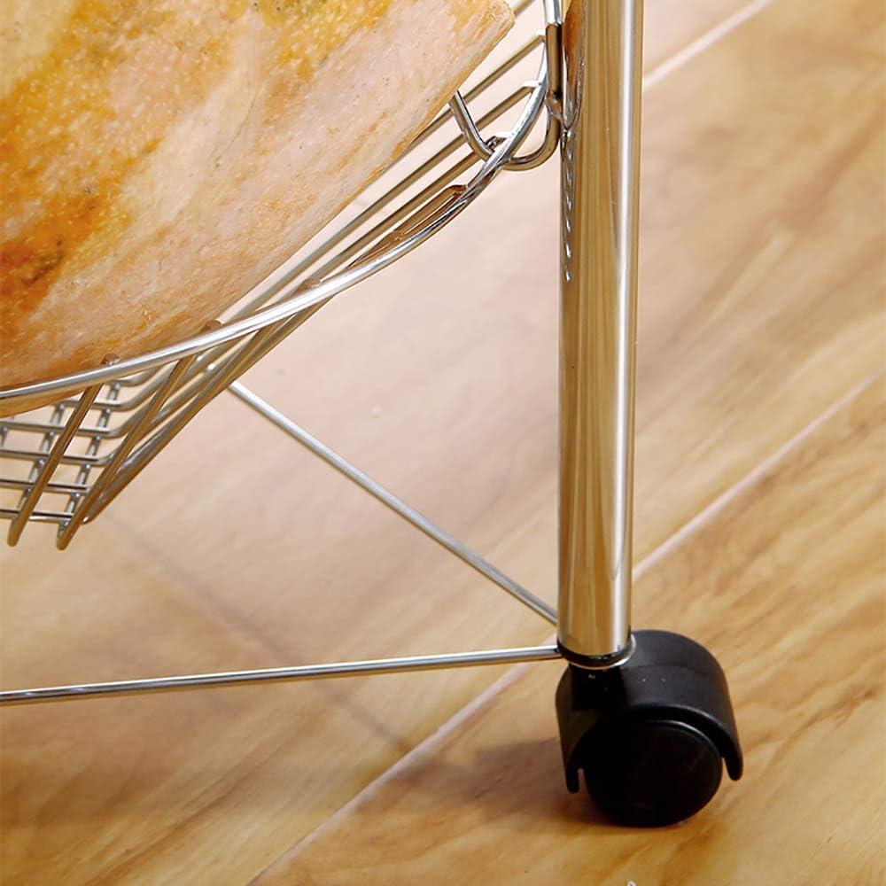 Colore di Placcatura Kitchenhotel trolley-Jack Mall T-Forma Rotonda Carrello di Atterraggio Multistrato Mobile Cart Cucina di Frutta E Verdura Bagagli Carrello Bagno Storage Rack