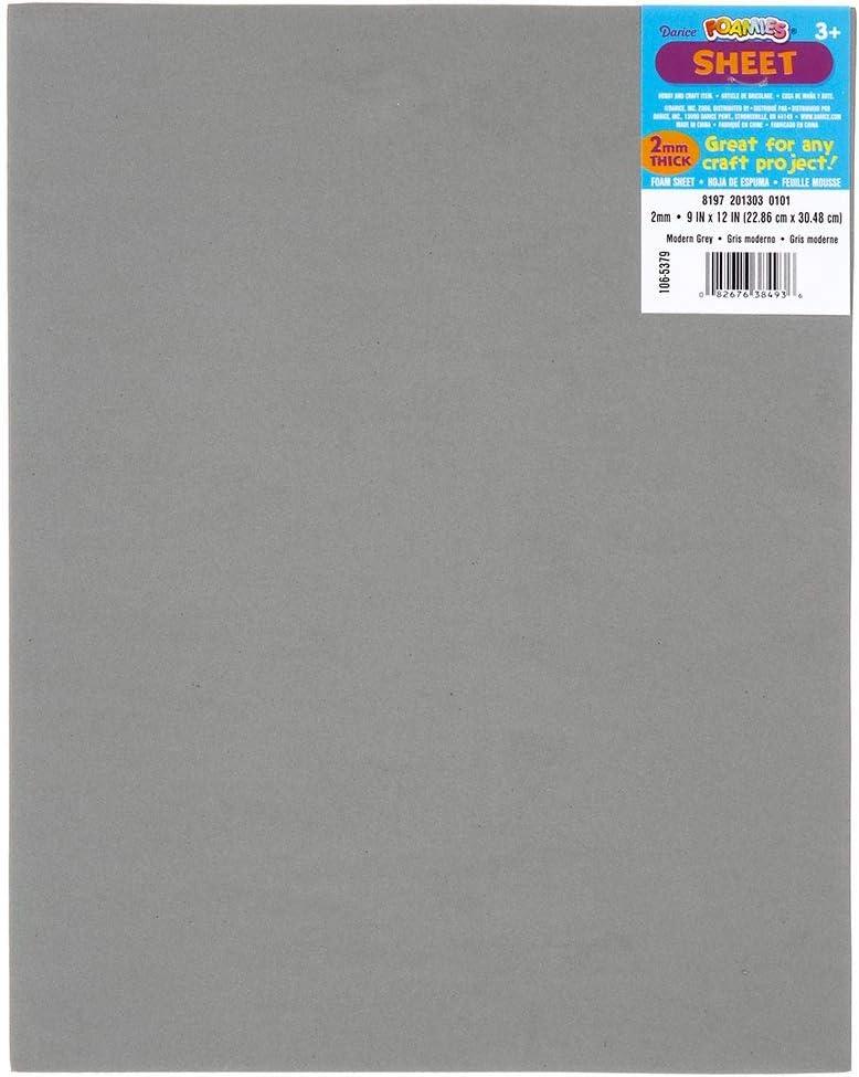 10-Pack 1144-12 Darice Bulk Buy DIY Foamies Foam Sheet Black 2mm Thick 9 x 12 inches