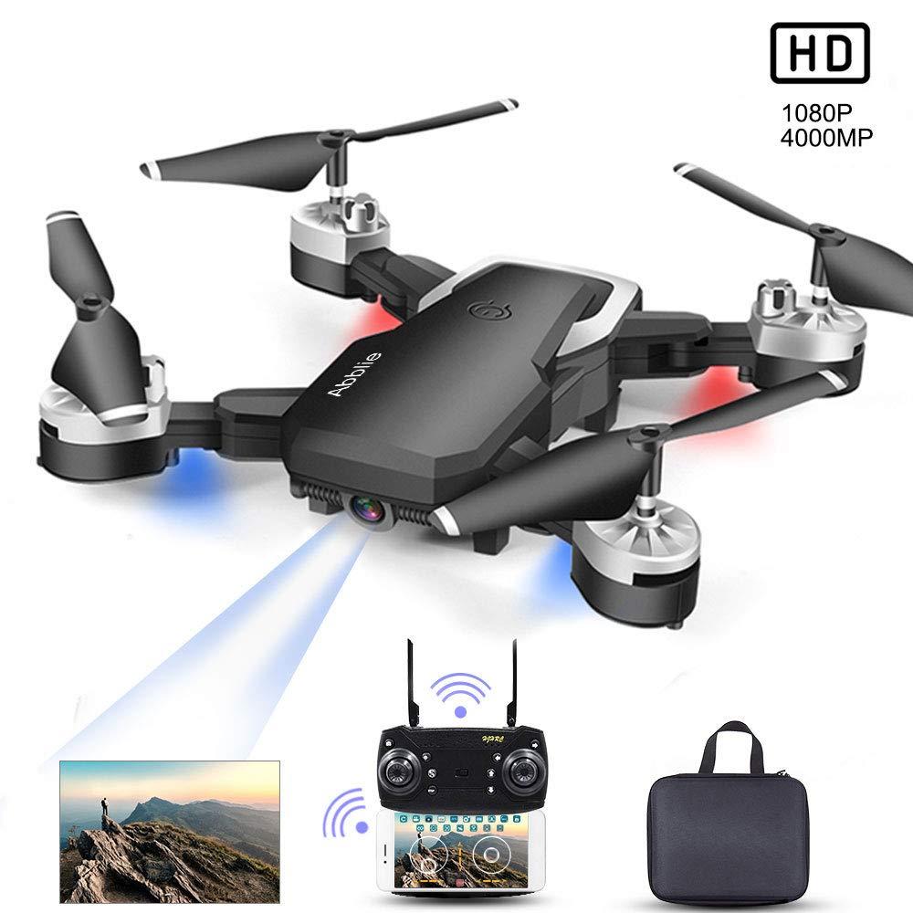WiFi-FPV Temps R/éel Abblie Drone avec Camera Mini Drone 1080P HD 4K Pixels 2 Batteries 20 Minutes De Vol 360/°Flips Mode sans T/ête Maintien De laltitude pour Les D/ébutants /&Les Enfants
