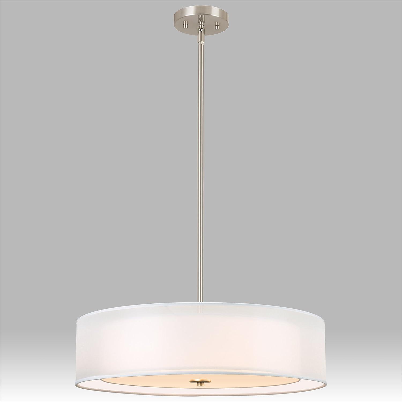"Revel Lindos 20"" Modern 3 Light Double Drum Chandelier Glass"