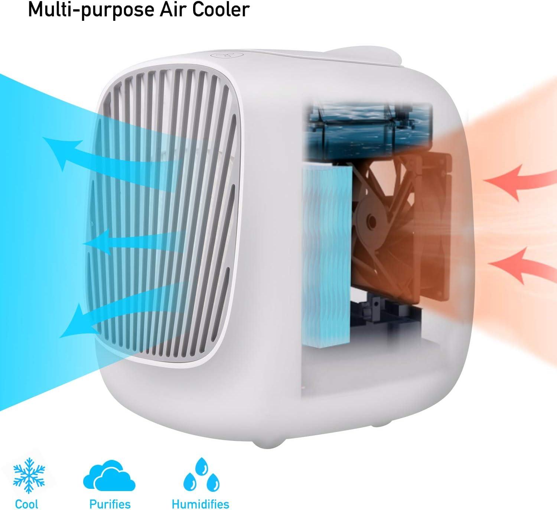 Aire acondicionado portátil, Basein Mini Air Cooler, 3 en 1, aire ...