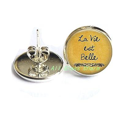 Amazon Com Charming Earrings La Vie Est Belle Life Is