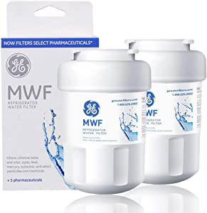 MWF Water Filter for GE Refrigerator 2packs Smart Water Filter Replacement Compatible with MWF, MWFINT, MWFP, MWFA,GWF, GWFA,Kenmore 46-9991